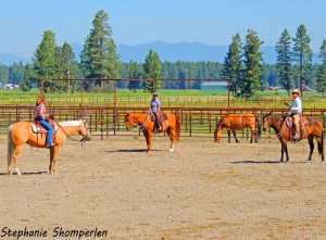 Dave Gamble donated part of the proceeds from a recent Horsemanship Clinic to FTBT–Thanks!